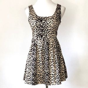 XXI Forever Fit and Flare Leopard Sleeveless Dress